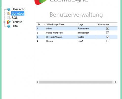 cosmoSync - Benutzerverwaltung
