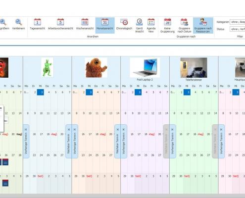 VisualPlanner - Übersicht gruppiert